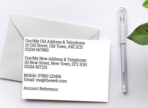 Change Of Address Cards